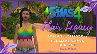 🤰🏽 I'VE MADE A HUGE MISTAKE 🤰🏽 | Sims 4 Legacy Challenge | Flair Season 1, Episode 5