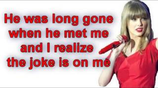 Taylor Swift - I Knew You Were Trouble (Lyrics) Video.