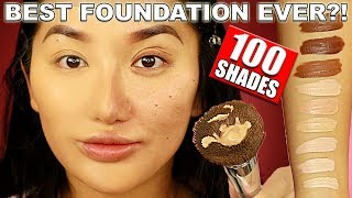 PERFECT COLOUR MATCH?! 100 SHADES OF FOUNDATION PUR COSMETICS 4IN1 LOVE YOUR SELFIE WEAR TEST