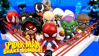 Spiderman Toys Shake Rumble Match with Mystery Minis Vulture & Venom // RUMBLE LEAGUE by KIDCITY