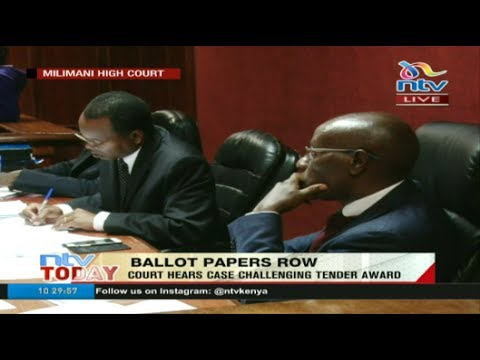 LIVE: Court hears case challenging ballot papers printing tender award to Al Ghurair