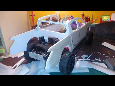 rc MITSUBISHI L200 custom build body AXIAL Scx10