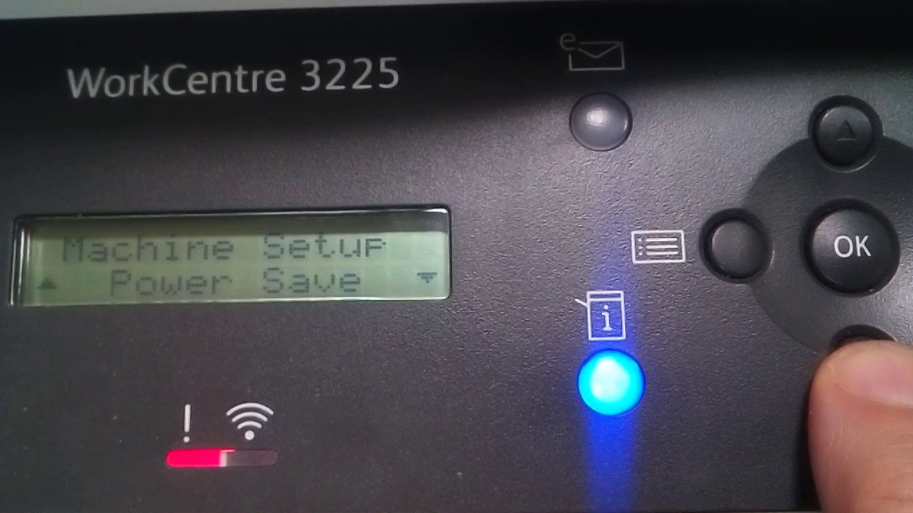 Xerox WC 3225 startup report print disable
