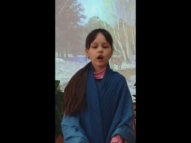 Изображение предпросмотра прочтения – АнастасияАрепина читает произведение «Снег теперь уже не тот» С.Я.Маршака