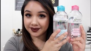 NEW Garnier Micellar Cleansing Water Review + Demo