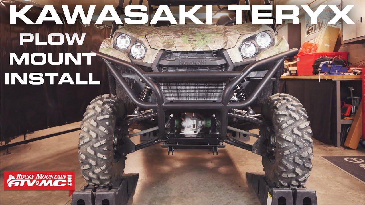 kawasaki teryx 750 800 tusk subzero plow mount install [ 1280 x 720 Pixel ]
