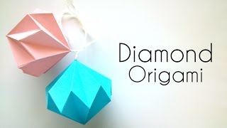 Origami Diamond - Paper Christmas decoration