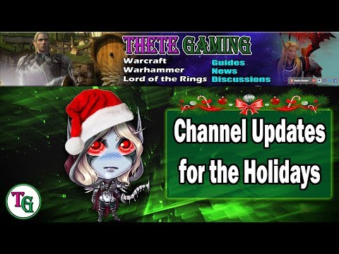 Thete Gaming Channel Message Regarding Holiday Plans