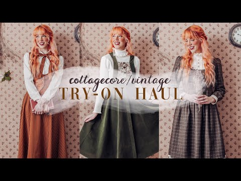 A *Cottagecore & Vintage Aesthetic* Clothing Haul + Try-on | Thrifting Tips Outfit Inspo! 2021
