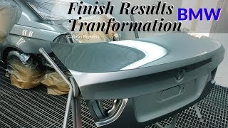 Painting car BMW / Sanding Filler for painting   Покраска авто   Clear coat Lechler
