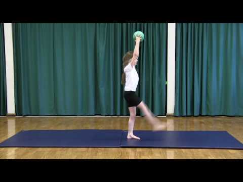 Primary PE Gymnastics Lesson Ideas – Rhythmic Gymnastics – 14 Piece Sequence Ball