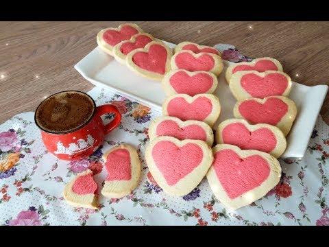 Sevgililer Gününe Özel Kalpli Gök Kuşağı Kurabiyeler