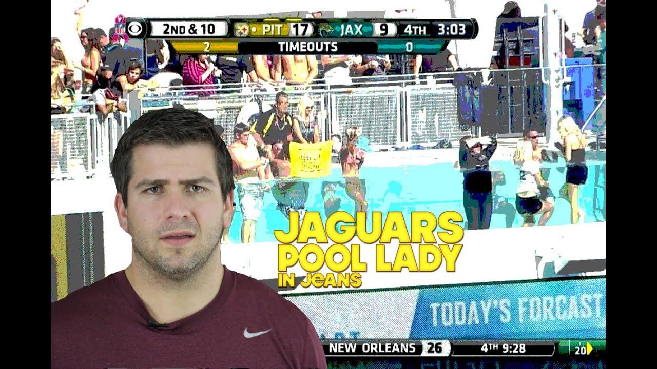 Jaguars pool lady in jeans youtube - Jacksonville jaguars swimming pool ...