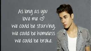 (LYRICS)As Long As You Love Me - Justin Bieber ft Big Sean HD