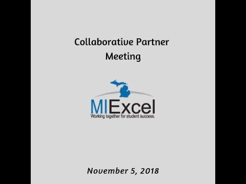 Collaborative Partner Meetings – MI Excel Resource Center