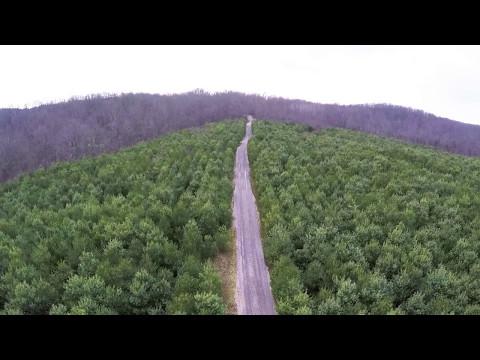 Aerial footage in rural Ohio