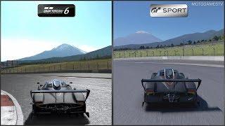 Gran Turismo 6 vs Gran Turismo Sport - Pagani Zonda R at Fuji International Speedway