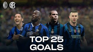 AC MILAN vs INTER | TOP 25 GOALS | Lukaku, Ronaldo, Vieri, Materazzi... and more! 🔥⚫🔵