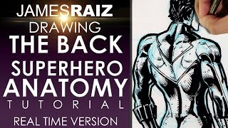HOW TO DRAW THE BACK - SUPERHERO ANATOMY TUTORIAL - REAL TIME VERSION