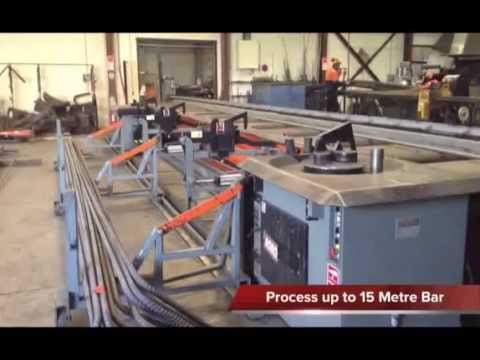 Complete Reinforcing's cut and bend steel machines in action