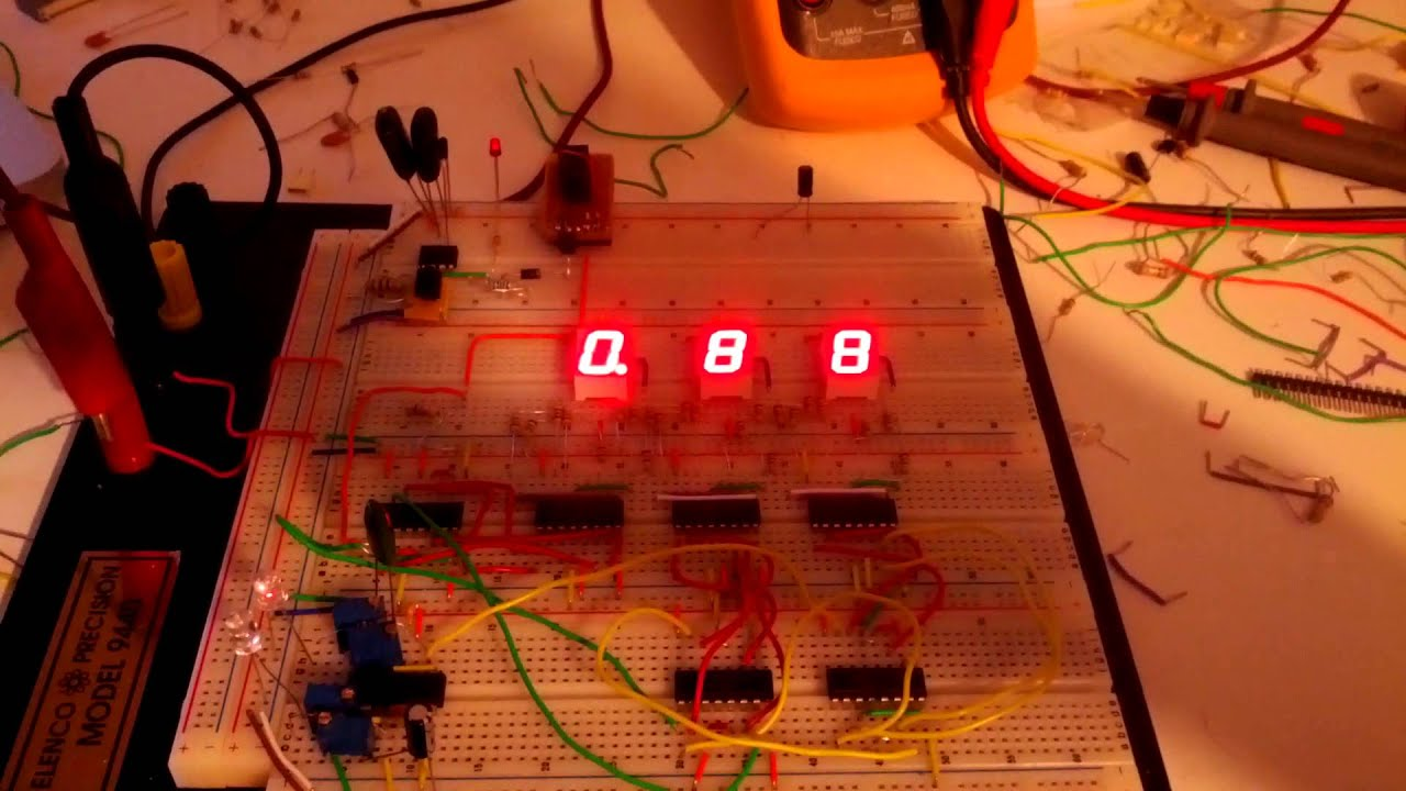 555 Countdown With 3 7 Segment Displays Youtube Digit Display Arduino Also Circuit 4026
