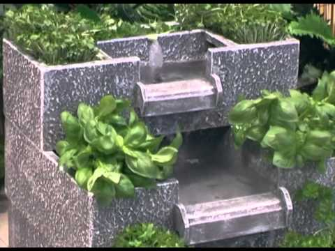 3 Tier Solar Cascade Water Feature And Planter Youtube
