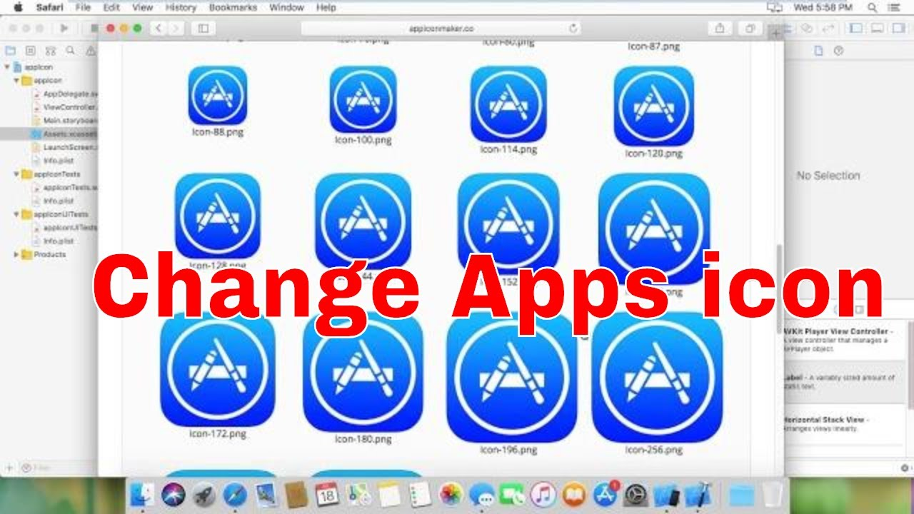 how to change App icon in xcode