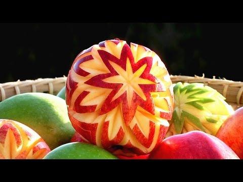 art in apple lucky stars apple art fruit carving apple garnishes