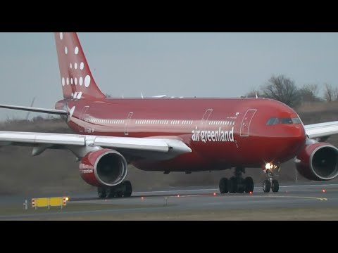1 HOUR+ Plane Spotting at Copenhagen Kastrup Airport, København (Inc. Air Greenland+Emirates)