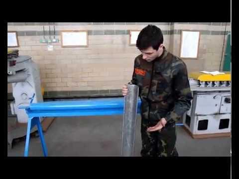 ручной станок для изготовления желоба водосточного