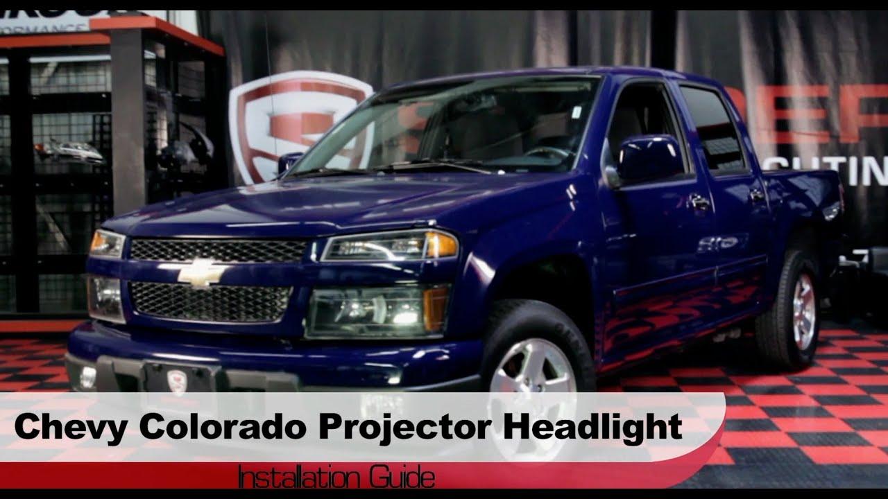 spyder auto installation 2004 2013 chevrolet colorado gmc canyon projector headlights [ 1280 x 720 Pixel ]