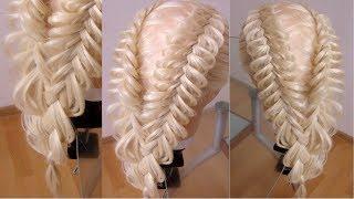 🐟Причёска из кос Рыбий хвост. Amazing hair tutorial. Видео-урок. 🐟
