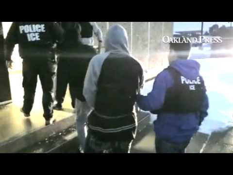 This footage supplied by U.S. Immigration and Customs Enforcement shows people being arrested in the