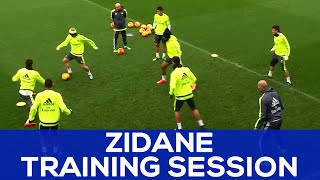 Zidane in a Rondo with Cristiano, James and Benzema! | REAL MADRID NEWS