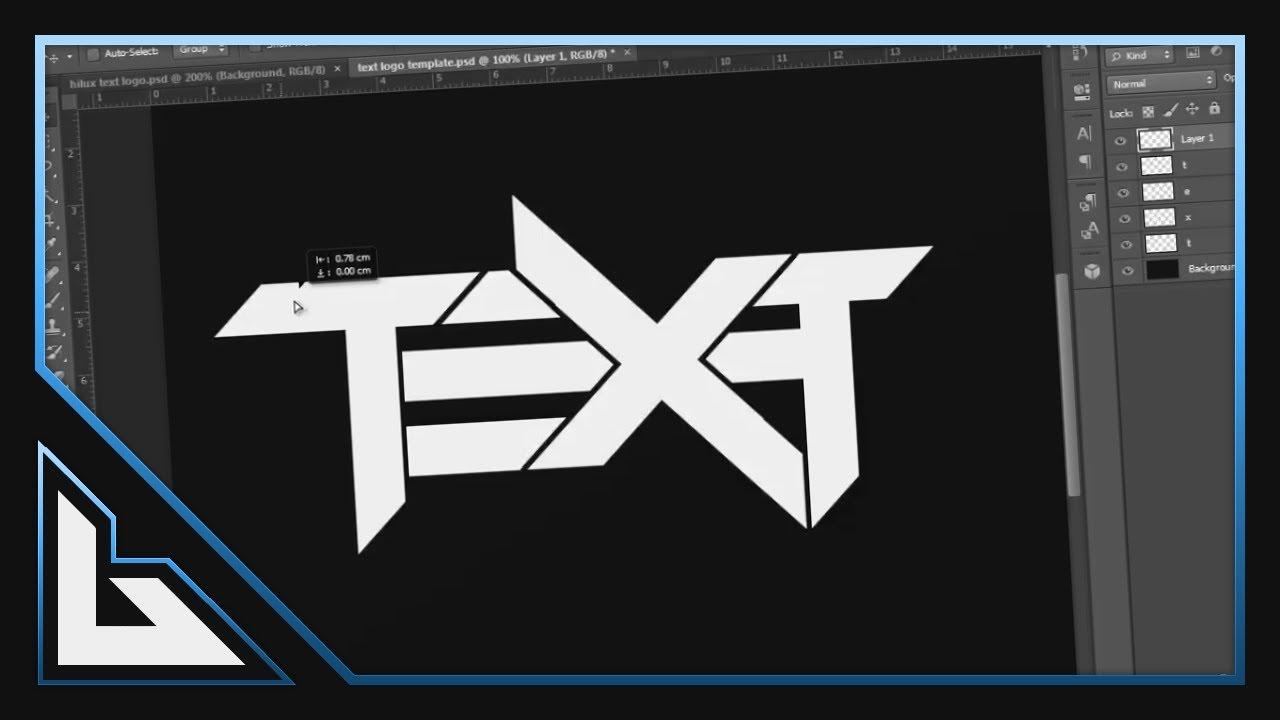 Tutorial: Text Logos (Photoshop!) - YouTube