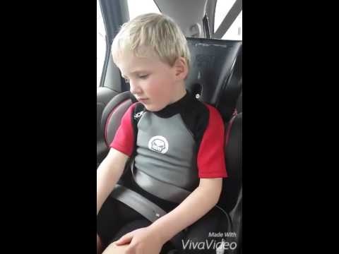 autistic boy sat in the car (spitting phase)