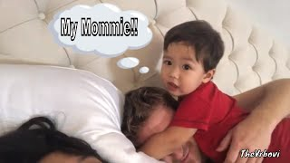 Toddler Doesn't Want To Share Mommie | Toddler's Cute Behaviour