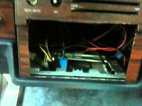how to put a tv radio in a caprice