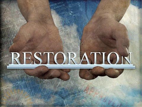 Restoration Sermon 9 4 2016