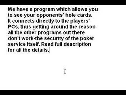 Online Poker Hack See All Cards
