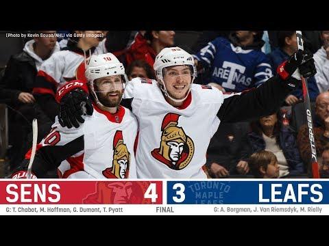 Jan 10: Sens vs. Leafs - Players Post-game