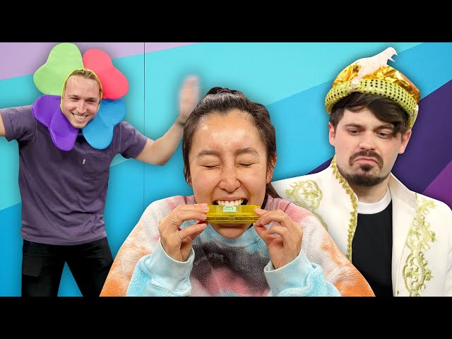 Try Not To Laugh Challenge #50 - Mystery Boxes! - Smosh Pit