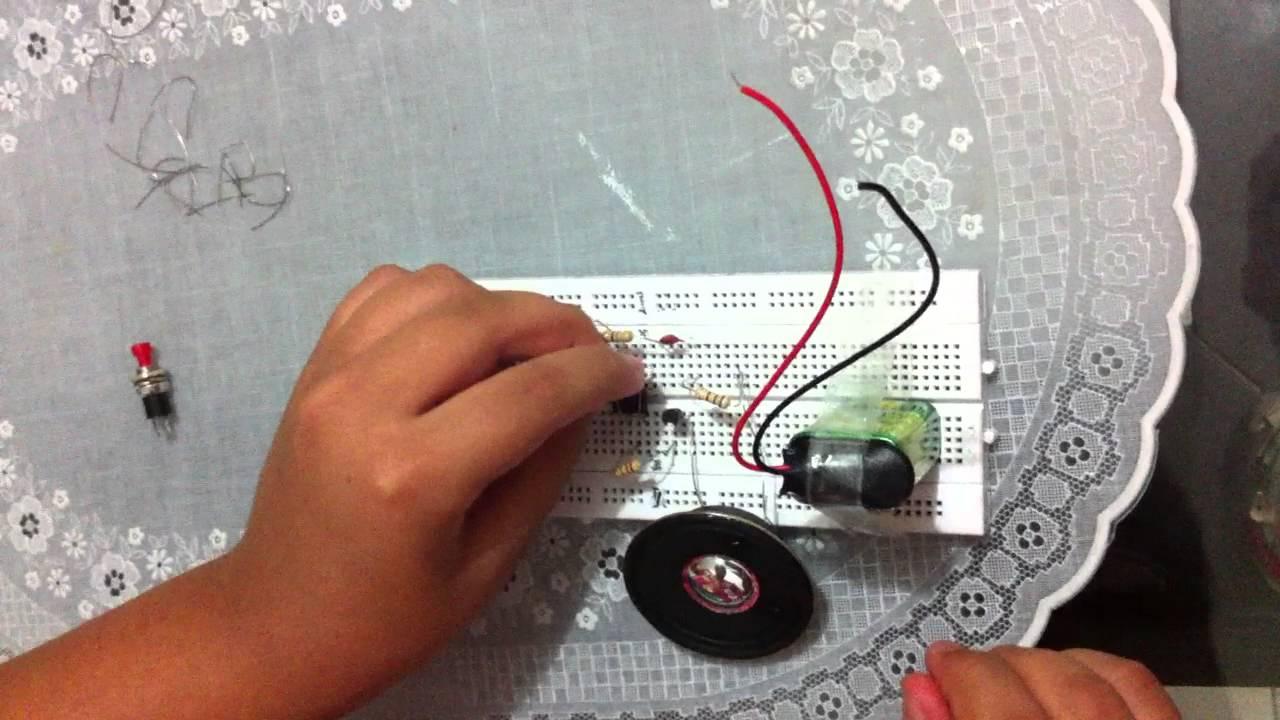 Circuito Zumbador Piezoelectrico : Oscilador para codigo morse youtube