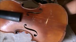 Repair of an old German Stradiuarius violin # 803