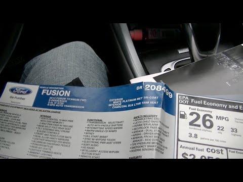 2013 Ford Fusion Titanium Books & Window Sticker