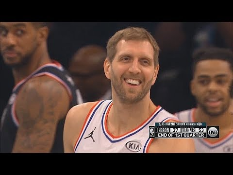 Dirk Makes Entire Crowd Go Crazy After Back To Back Three Pointers! 2019 NBA All-Star Game