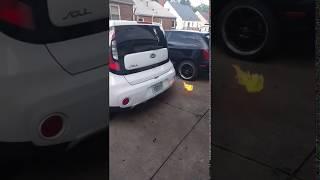 Diesel Kia Shoots Flames (GONE WRONG IN THE HOOD)