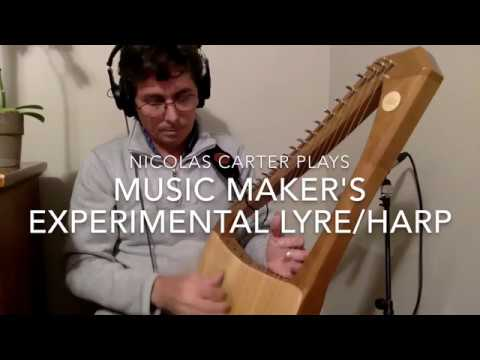 Nicolas Carter on an experimental Lyre/harp from Musicmaker's