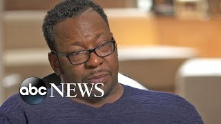 Get a first look at robin roberts' interview with the singer, who gets emotional as he talks about death of his daughter, bobbi kristina.