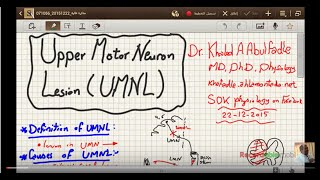Upper motor neuron lesion (UMNL) (1-2016) by D Khaled A Abulfadle